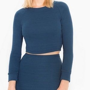 American Apparel Crop Top Long Sleeve Size Large